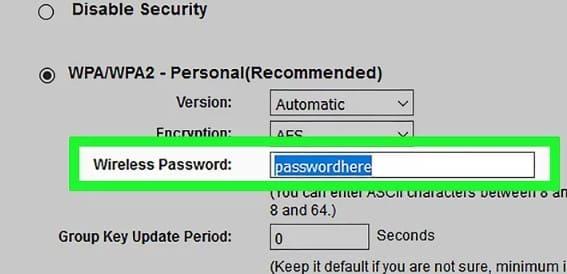 indica la contraseña de tu red de wifi
